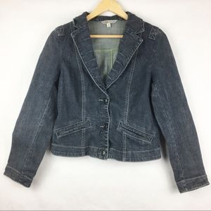 Cabi Fitted Jean Jacket Size M